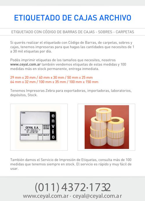 Etiquetas Caja Archivo