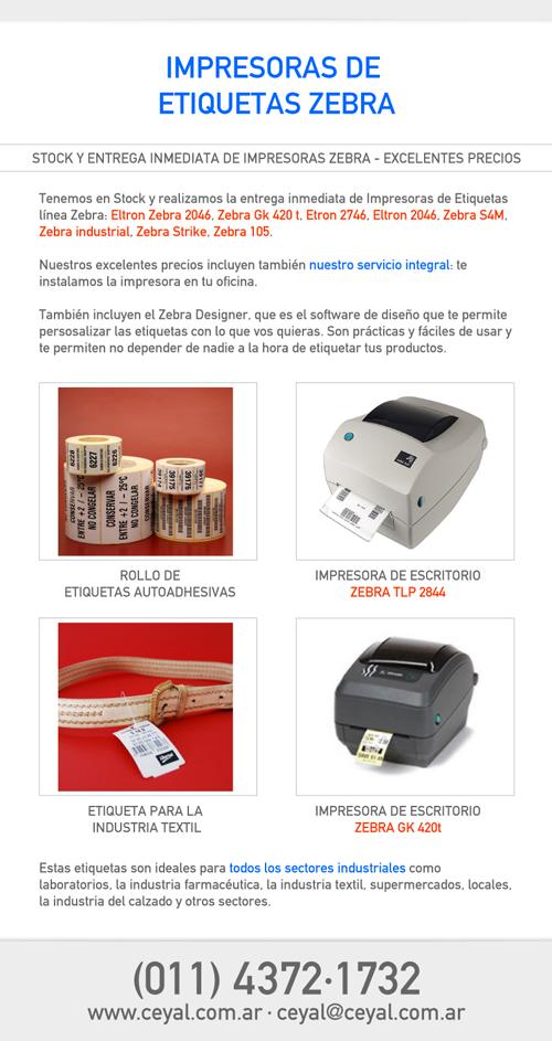 Impresoras De Etiquetas Zebra Argentina Etiquetadora